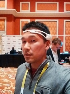Mike wearing Emotiv headset
