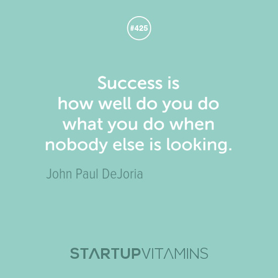 success no one looking quote